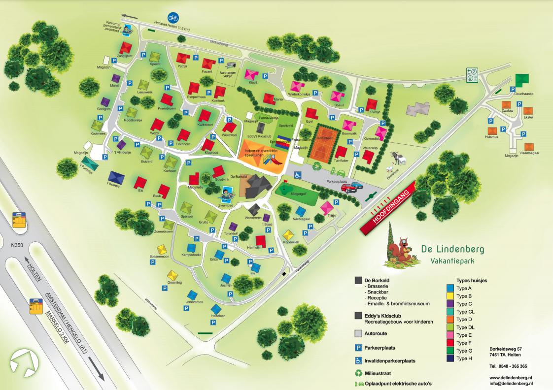 Map Holiday Park De Lindenberg