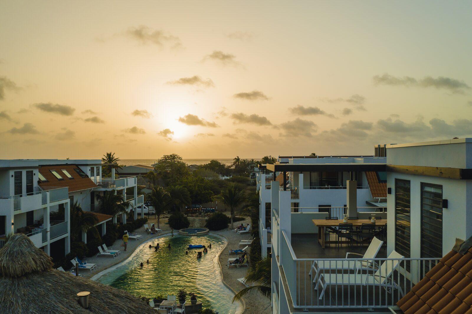 Le Resort Bonaire le soir