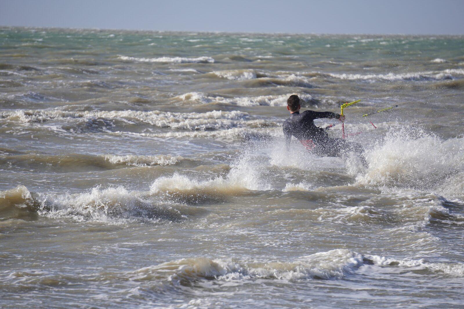 Kitesurfen op de Brouwersdam