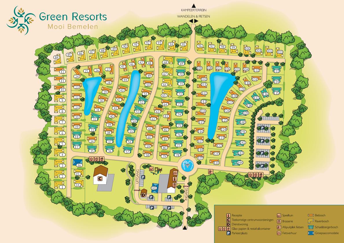 Plattegrond Resort Mooi Bemelen