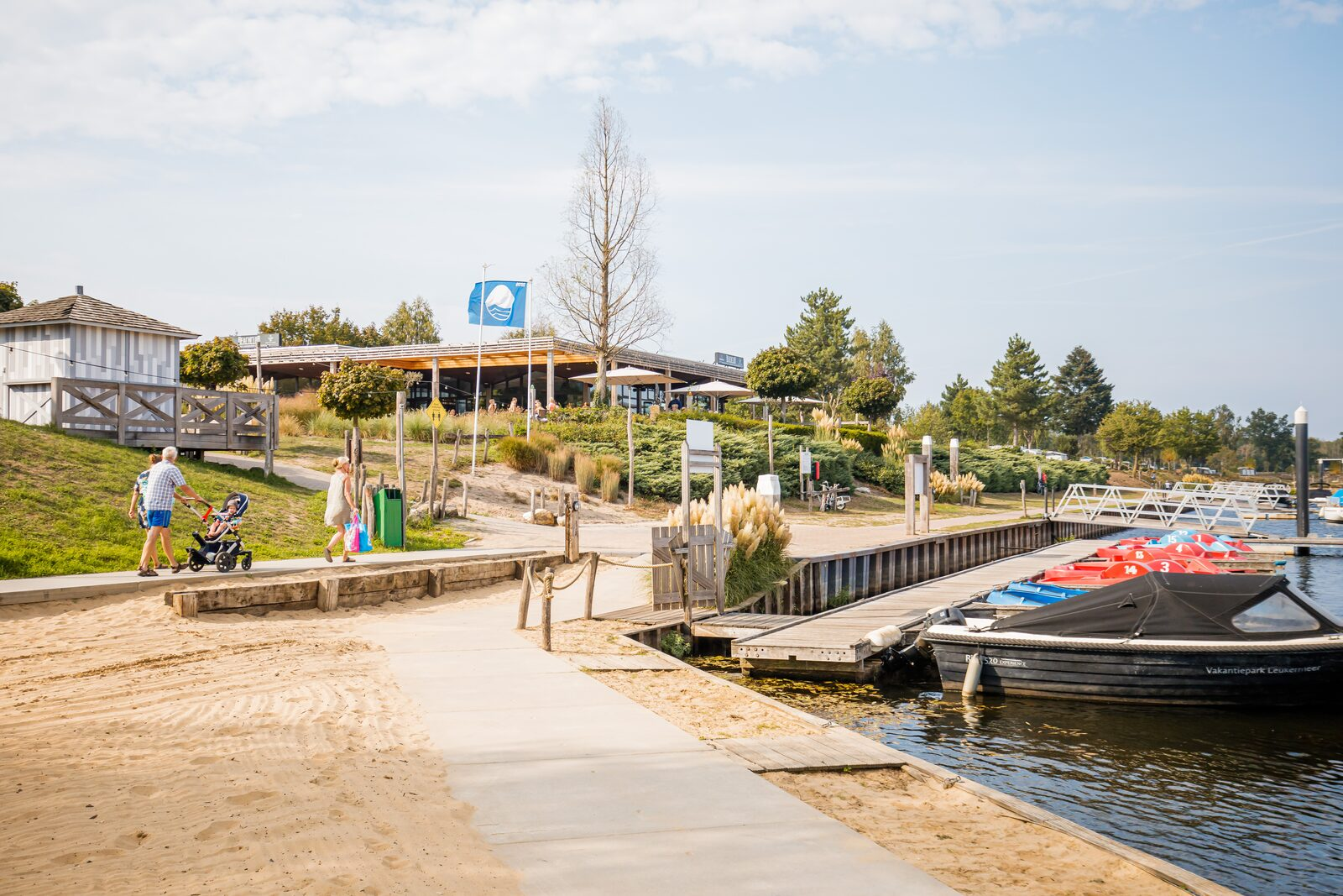 Campsite with marina